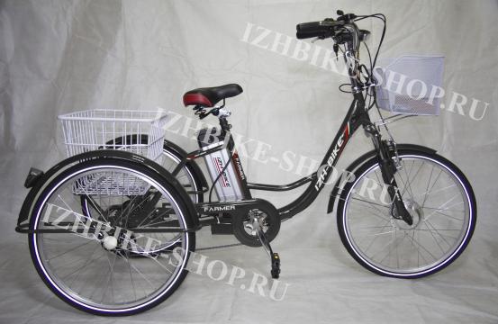 Электрический трехколесный велосипед для взрослых IZH-BIKE Farmer (Фермер) внедорожный (2021)