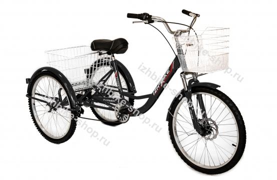 Велосипед IZH-BIKE FARMER (ФЕРМЕР) 2021 (Чёрный)